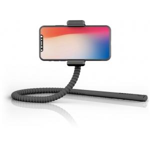 GekkoStick, painduv selfie stick bluetooth kaugjuhitava puldiga, must