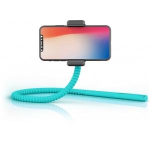 GekkoStick, painduv selfie stick bluetooth kaugjuhitava puldiga, türkiis