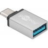 Üleminek USB-C (M) - USB 3.0 A (F), hõbe (Gen1-5Gbs)