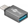 Üleminek USB 3.1 C (M) - USB 3.0 A (F), hall (Gen1-5Gbs)