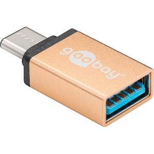 Üleminek USB-C (M) - USB 3.0 A (F), kuld (Gen1-5Gbs)