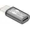 Üleminek USB-C (M) - USB 2.0 Micro B (F), must metallik