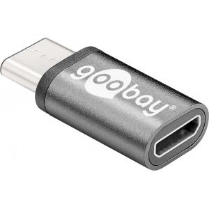 Üleminek USB-C (M) - USB 2.0 Micro B (F), hõbe