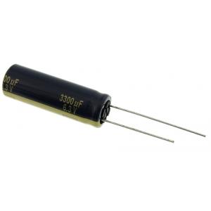 Elektrolüüt kondensaator 3300uF 6.3V 105°C 4000h 10x30mm, Panasonic FK seeria