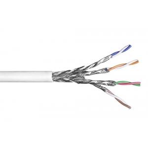 Keerdpaarkaabel Cat7 S/FTP 4x2x0,5 ühekiuline PiMF 10GBs 23AWG LSFRZH Dca valge 500m/rull