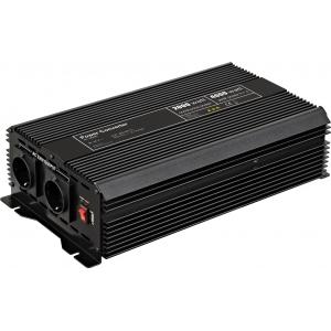 Inverter DC/AC 24V/230VAC 2000W, USB-port, sisseehitatud vent
