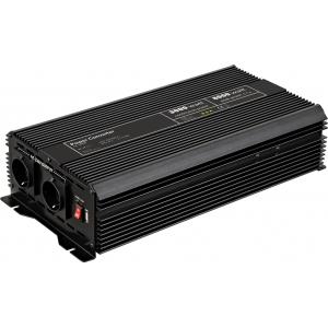 Inverter DC/AC 24V/230VAC 3000W, USB-port, sisseehitatud vent