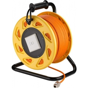 Võrgukaabel Cat7A S/FTP pikenduskaabel rullis 90.0m, oranz