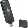 Kaardilugeja USB 3.0 C - SD, SDHC, SDXC, MicroSD; LED, 5.0 Gbps