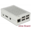 Karp Raspberry Pi B+´le, Pi 2/3 B, hõbedane, alumiinium/teras, 97x60x31mm