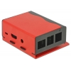 Karp Raspberry Pi B+´le, Pi 2/3 B, must/punane, alumiinium/teras, 87x82x40mm