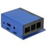 Karp Raspberry Pi B+´le, Pi 2/3 B, must/sinine, alumiinium/teras, 87x82x40mm