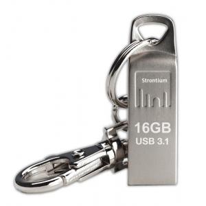 Mälupulk 16GB USB 3.1, 120MBs, hõbedane, võtmehoidjaga