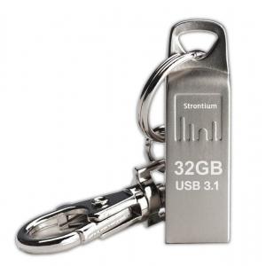 Mälupulk 32GB USB 3.1, 120MBs, hõbedane, võtmehoidjaga