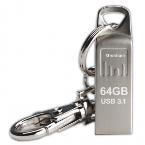 Mälupulk 64GB USB 3.1, 120MBs, hõbedane, võtmehoidjaga