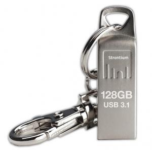 Mälupulk 128GB USB 3.1, 120MBs, hõbedane, võtmehoidjaga
