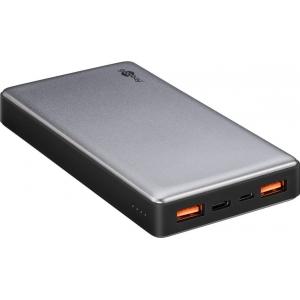 Akupank: 2xUSB 2.0A, 1xUSB-C, 15000mAh Li-Po, (laeb 2 nutitelefoni), kiirlaadija