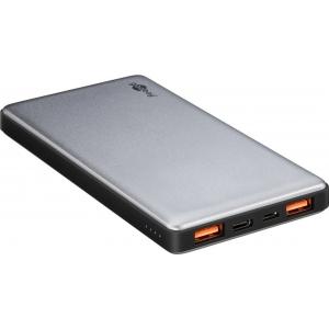 Akupank: 2xUSB 2.0A, 1xUSB-C, 10000mAh Li-Po, (laeb 2 nutitelefoni), kiirlaadija