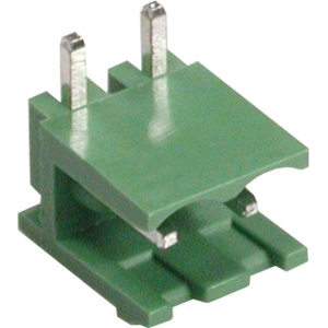 Shrouded header Male, 2-cont. 90° R5mm PCB