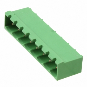 Shrouded header Male, 8-cont. 90° R5mm PCB