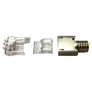 Modularpistik RJ45 Cat6 ühekiulisele/mitmekiulisele kaablile varjestatud/varjestamata 26-23 AWG D: 5.1-6.0mm