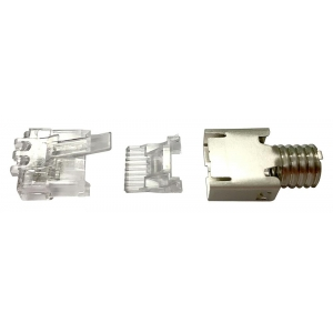 Modularpistik RJ45 Cat6a ühekiulisele/mitmekiulisele kaablile varjestatud 26-23 AWG D: 5.7-7.0mm