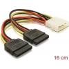 SATA HDD 2x - 4pin (M) toitekaabel