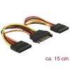 SATA Toitekaabel 15pin - 2x SATA 15 pin, 0.15m