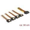 SATA Toitekaabel 15pin - 4x SATA 15 pin, 0.3m