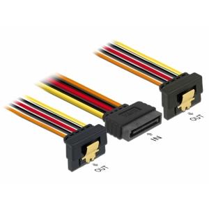 SATA Toitekaabel 15pin - 2x SATA 15 pin, 0.3m