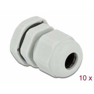 Kaabli läbiviik PG9 4 - 8mm, hall IP68, koos mutriga (10k)