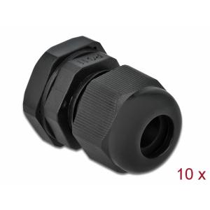 Kaabli läbiviik PG11 5 - 10mm, must IP68, koos mutriga (10k)