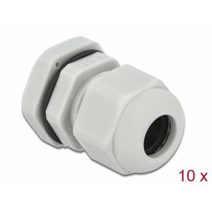 Kaabli läbiviik PG11 5 - 10mm, hall IP68, koos mutriga (10k)
