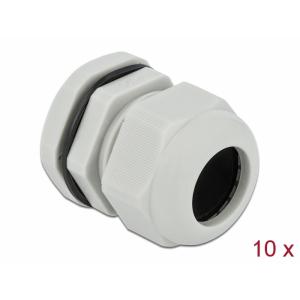 Kaabli läbiviik PG25 16 - 21mm, hall IP68, koos mutriga (10k)