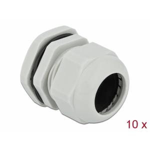 Kaabli läbiviik PG29 18 - 25mm, hall IP68, koos mutriga (10k)