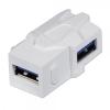Keystone moodul: USB 3.0 A (F) - (F) nurgaga, valge