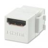 Keystone moodul: HDMI (F) - (F) 2160p, valge
