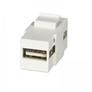 Keystone moodul: USB 2.0 A F - F, valge