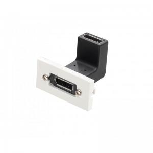 Keystone moodul: Displayport (F) - (F), nurgaga, valge
