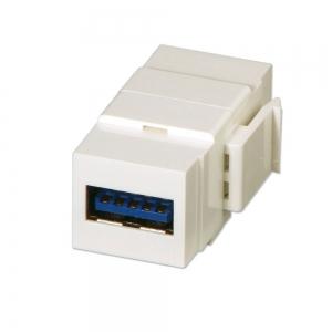 Keystone moodul: USB 3.0 A (F) - (F), valge
