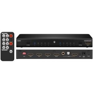 HDMI matrix switch, 4 sisse / 2 välja, eraldi audioväljundiga
