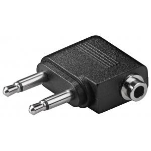 Üleminek 3.5mm (F, 3-pin, stereo) - 2x3.5mm (M, 2-pin, mono)