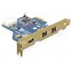 Võrgukaart: PCIe x1, 2 x FireWire B, 1 x FireWire A