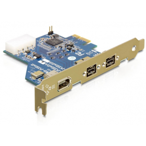 Laienduskaart: PCIe x1, 2 x FireWire B, 1 x FireWire A