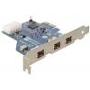 Võrgukaart: PCIe x1, 3 x FireWire 1394B