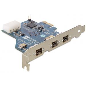 Laienduskaart: PCIe x1, 3 x FireWire 1394B