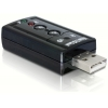 USB 2.0 helikaart, 1x 3.5mm stereo, 1x 3.5mm microphone, 7.1 channel Sound, Xear 3D