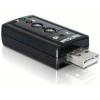 USB 2.0 helikaart, 1x 3.5mm stereo, 1x 3.5mm microphone, 7.1 channel Sound, Xear 3D
