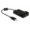 Konverter USB 2.0 (M) - HDMI (F) 1920 x 1080, must