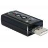 USB 2.0 helikaart, 1x 3.5mm stereo, 1x 3.5mm microphone, SPDIF